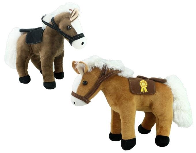 Pferd mit Sattel 2-fach sortiert ca 38cm