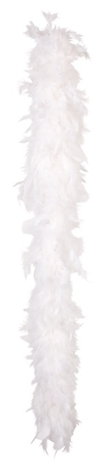 Federboa 50 g weiß ca 180cm