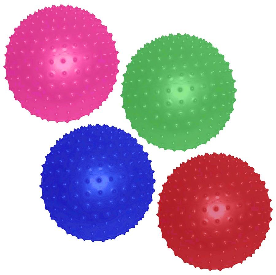 Noppenball Stachelball einzeln verpackt 4-farbig ca 20cm