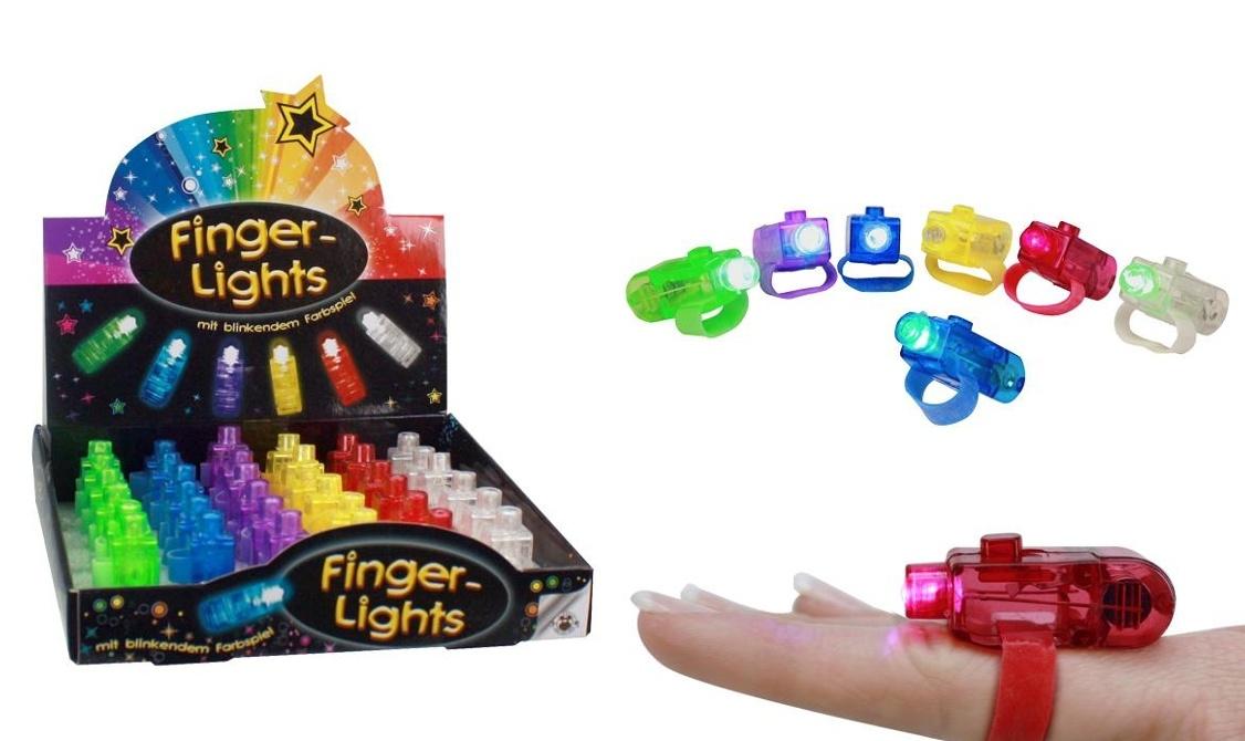 Fingerlampe mit Farbspiel 6 fach sortiert