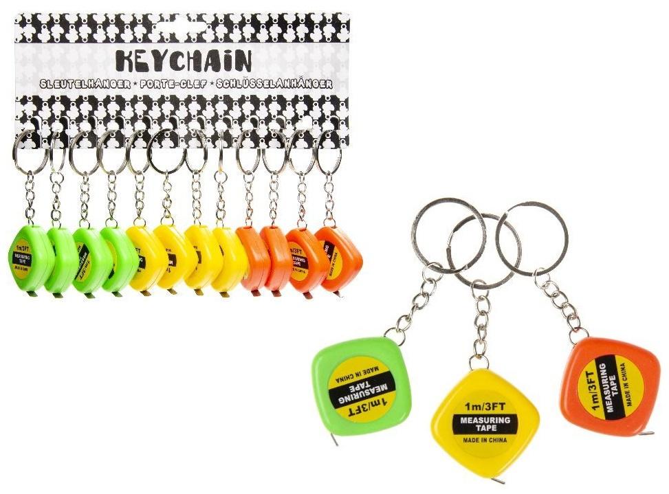 Maßband  1 Meter sortiert - an Schlüsselanhänger - ca 3,5