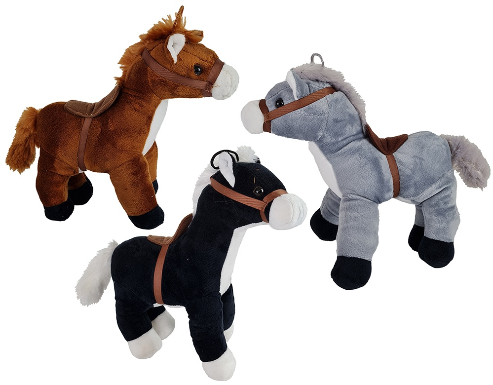Pferd mit Sattel 3-fach sortiert  ca 25cm