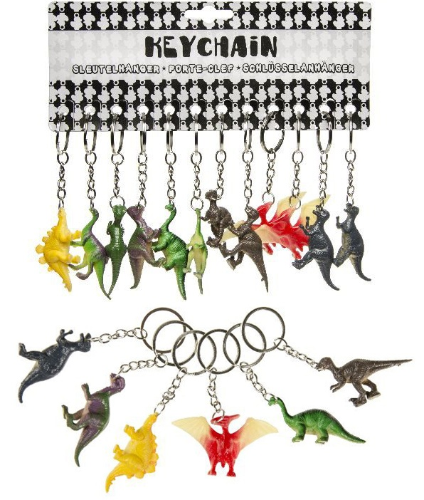 Dino mehrfach sortiert an Schlüsselanhänger - ca 5-6cm
