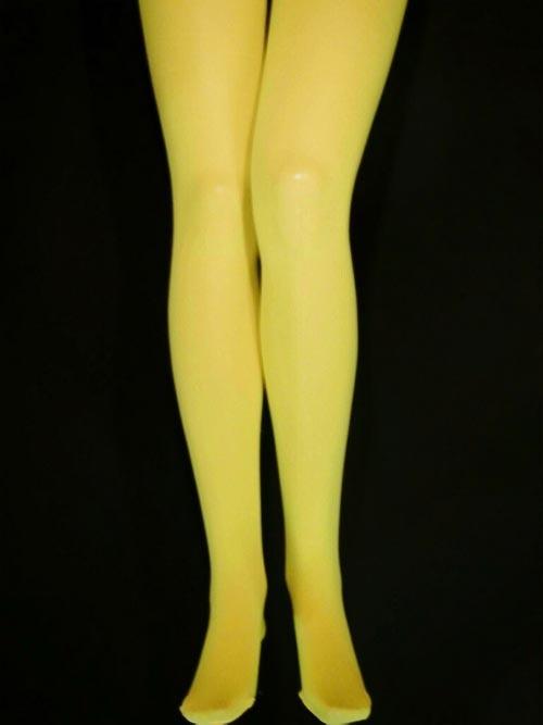 Strumpfhose blickdicht 70D - gelb