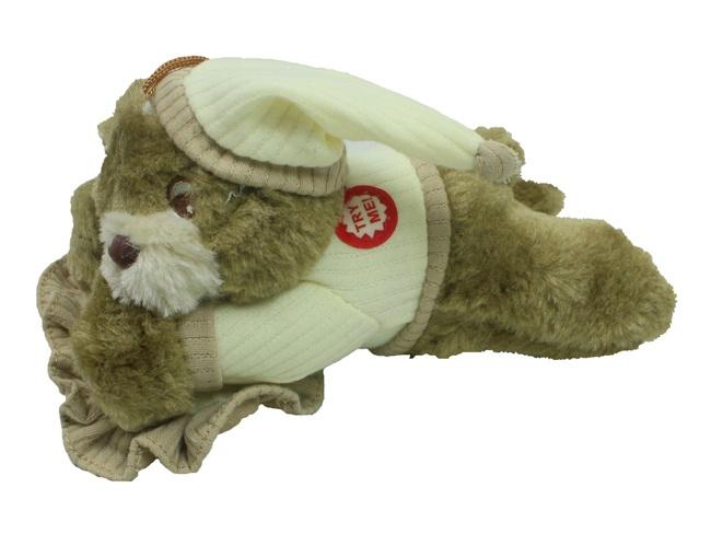 Schnarchbär mit Schnarchsound liegend ca 20 cm