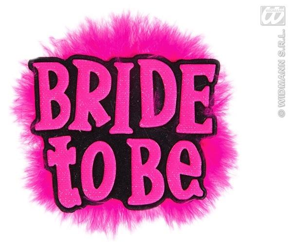 Brosche - Partybrosche Bride to be ca 11x9cm