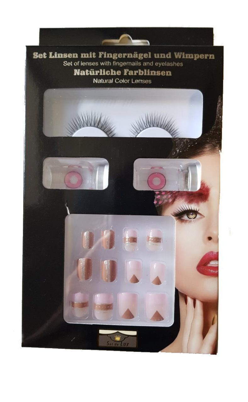 Beautyset  braun/rosa/nude  in Box verpackt ca 22x12,5x2,5cm