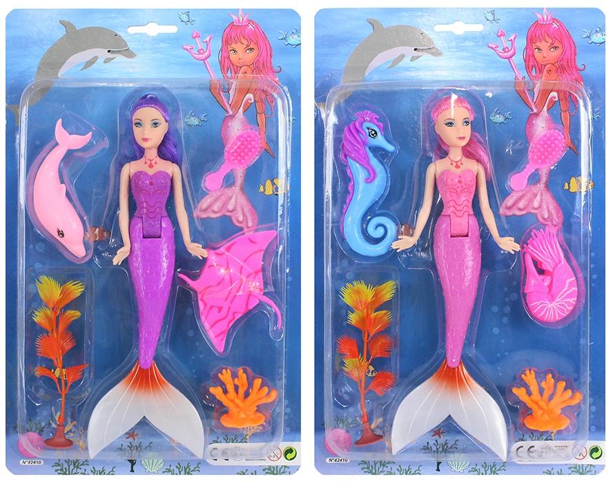 Puppe Meerjungfrau mit Zubehör 2-fach sortiert ca 25cm