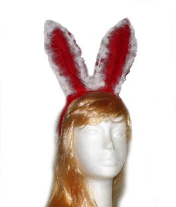 Haarreif  Weihnachts-Bunny  mit Federbesatz
