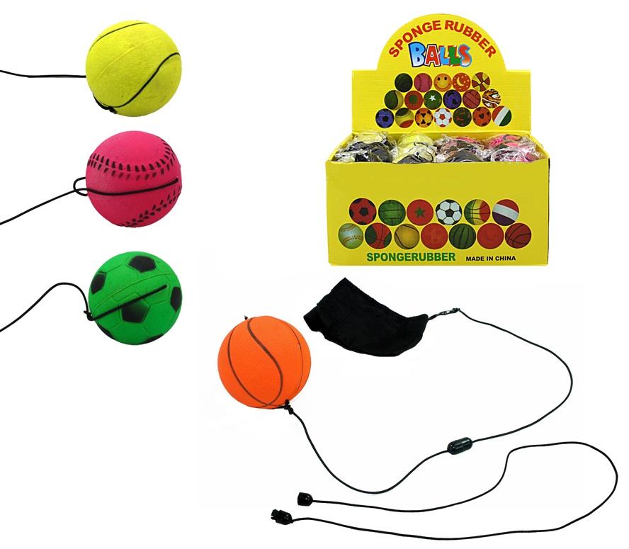 Ball Returnball 4-fach sortiert ca 6 cm