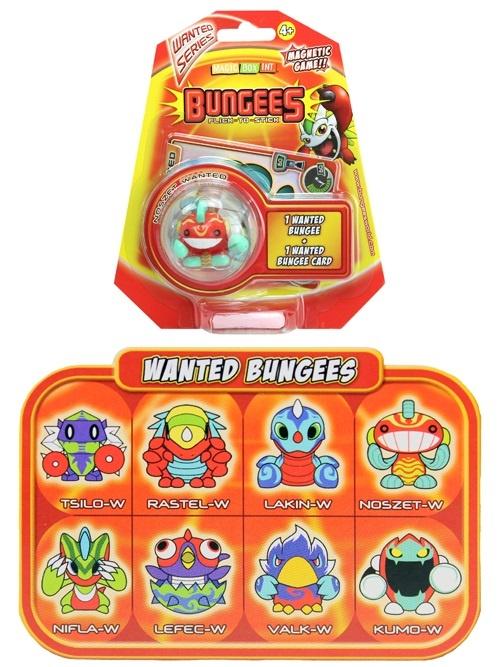 Bungees Flick-to-stick 8-fach sortiert im Blister ca 17x15cm
