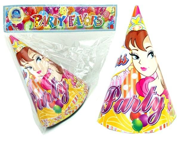 Partyhut Prinzessin Design 12 Stück im Beutel