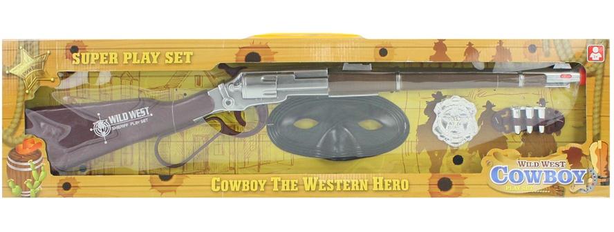 Cowboyset Gewehr + Zubehör - in Box ca 61x16,5x4cm