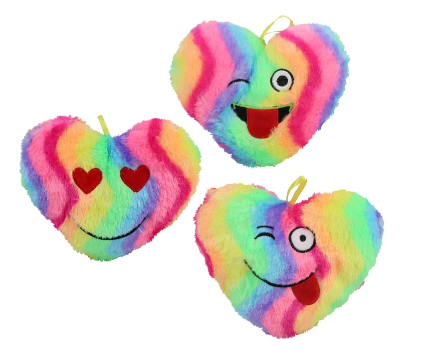 Herz regenbogenfarbig 3-fach sortiert ca 23 cm