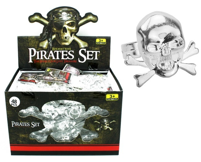 Piratenring silber