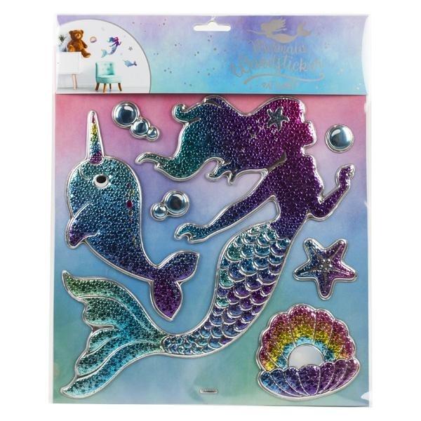 Meerjungfrau Wandsticker auf Karte ca 31x25,5cm