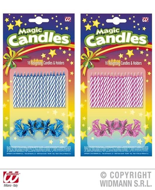 magische Kerzen - 16 Stück - 2 fach sortiert