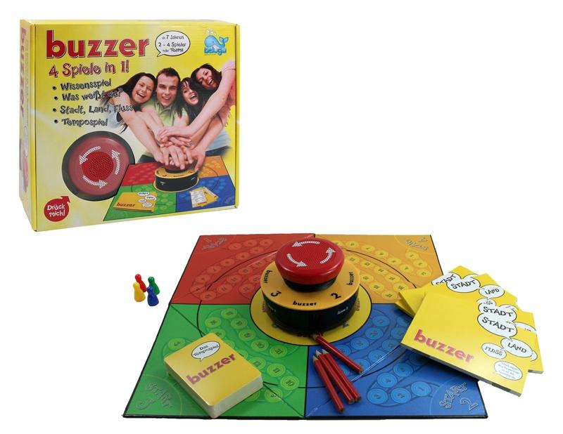 Buzzer Spiel 4 in 1 von BELUGA - in Box ca 28,5x27x9cm