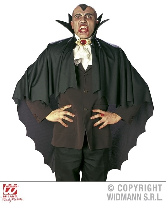 Vampirumhang schwarz mit Halsband ca  100 cm