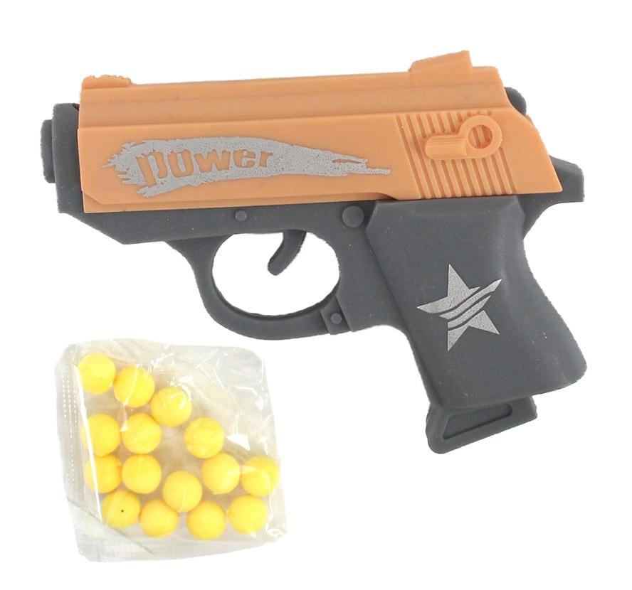 Kugelpistole mini mit Monition - ca 7,5 cm