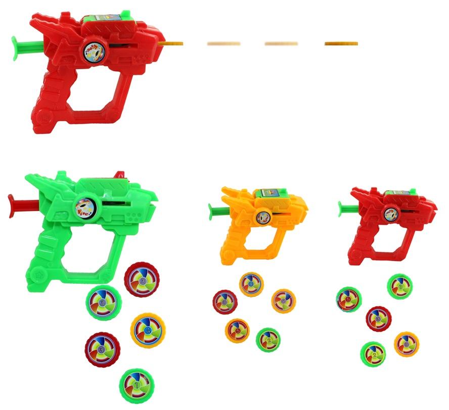 Pistole Scheibenabschießer 3-fach sortiert ca 8cm