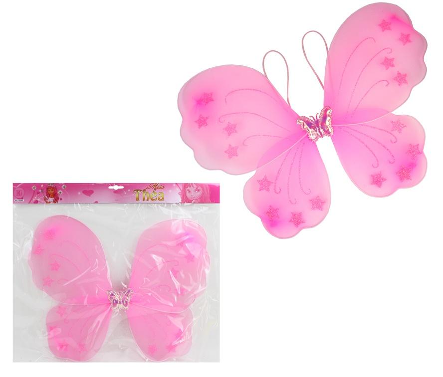 Schmetterlingsflügel rosa - ca 43 cm breit