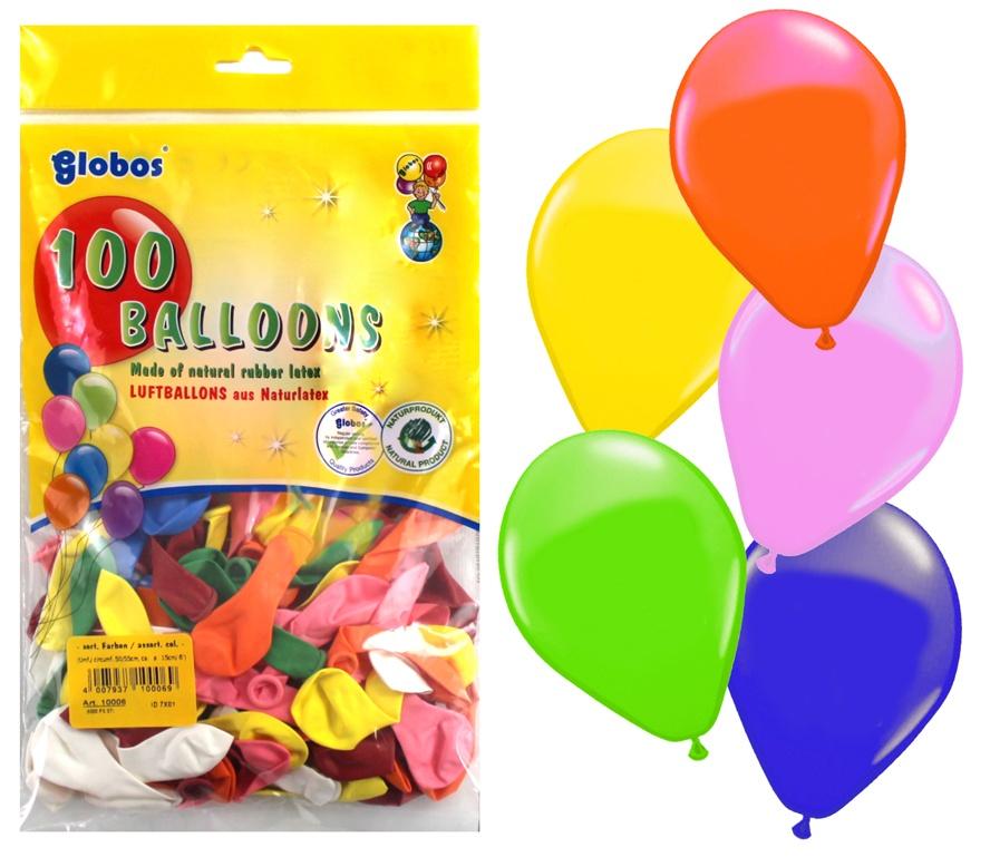 Ballons Partyballon  ca  55 cm Umfang 100 Stück im Beutel