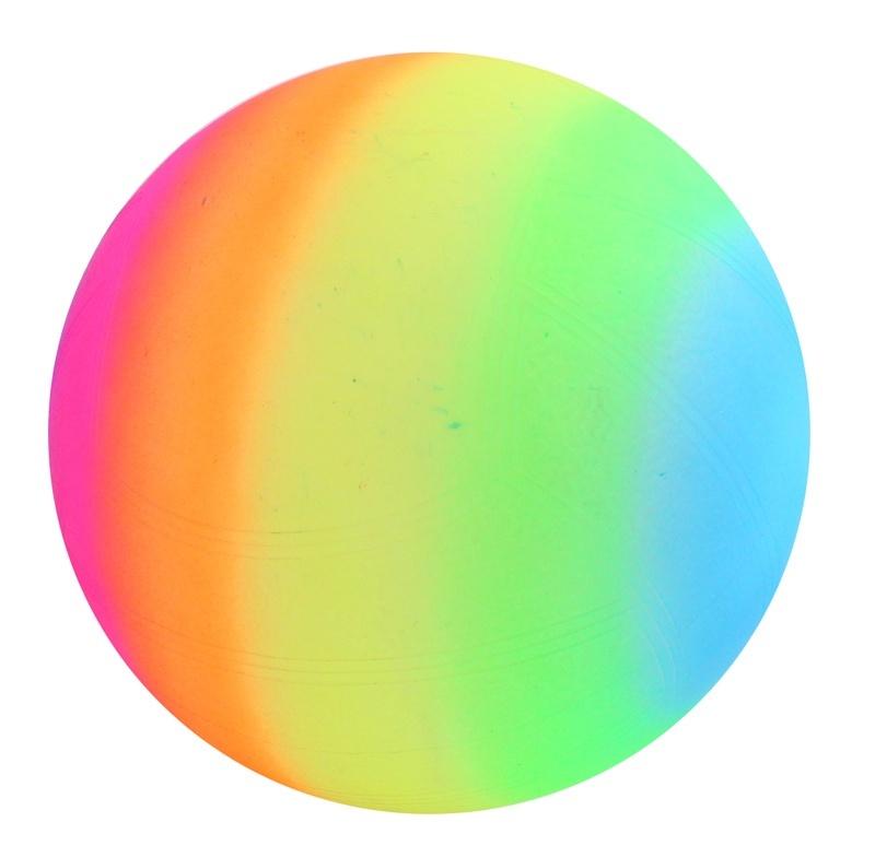 Regenbogenball im Netz ca 24 cm