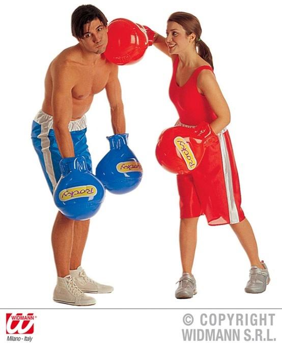 Boxhandschuhe aufblasbar rot