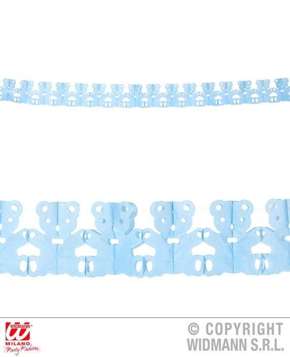 Girlande Teddybär blau ca 300 cm