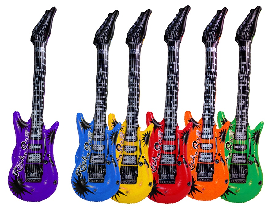 Gitarre aufblasbar 6-farbig sortiert ca 100 cm