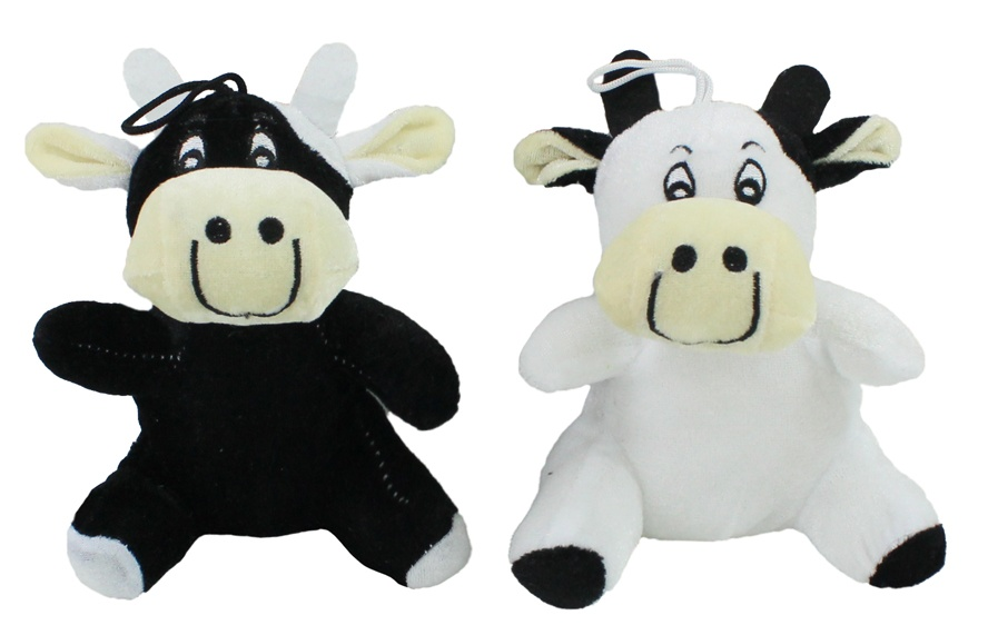 Kuh sitzend 2 Farben sortiert  ca 16 cm