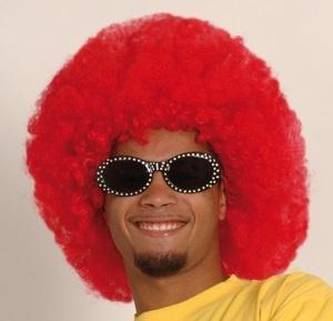 Perücke - Afro rot