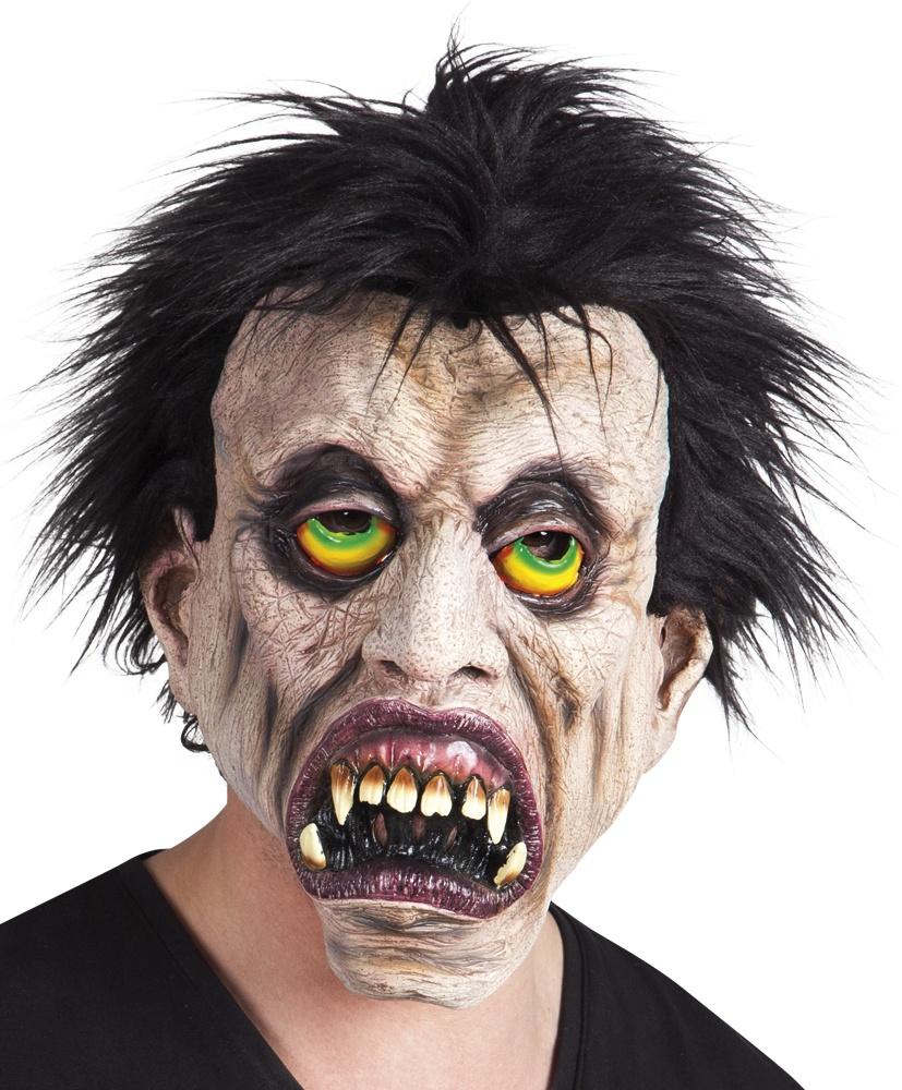 maske vampir mit haar aus latex heinemann gro handel. Black Bedroom Furniture Sets. Home Design Ideas