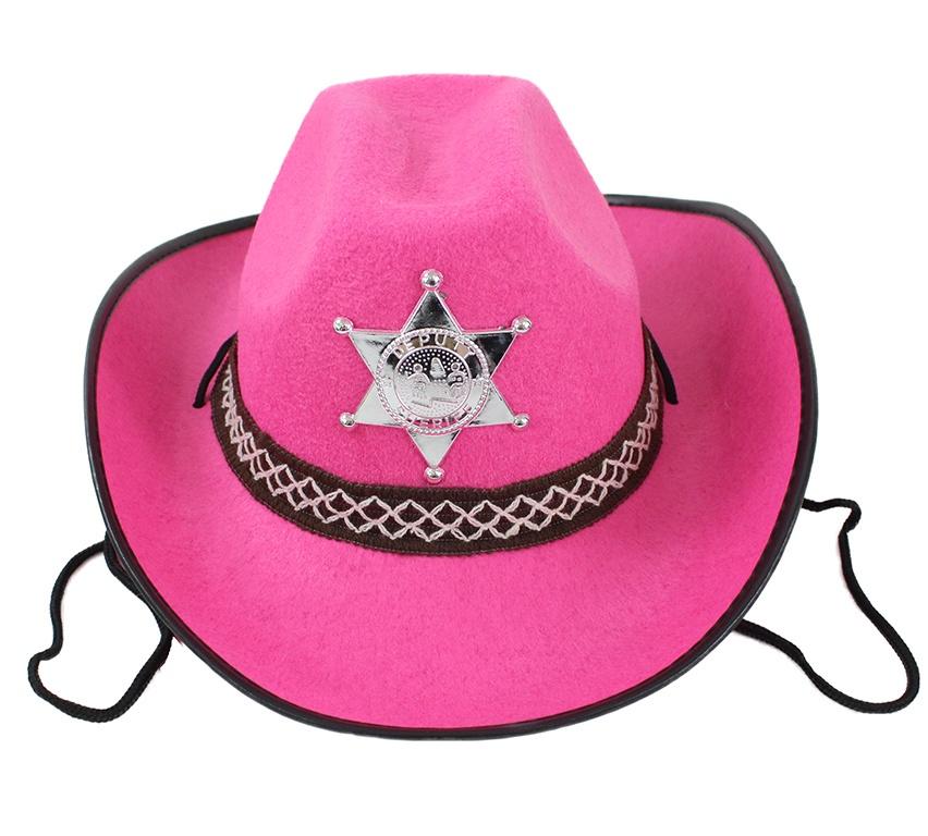 Cowboyhut pink für Kinder