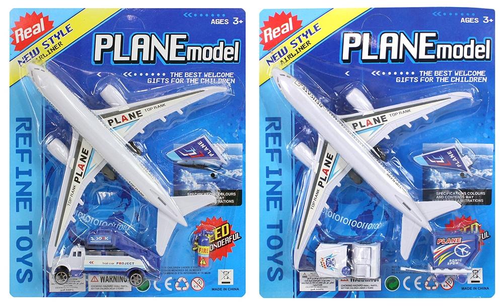 Flugzeugset 3 teilig auf Karte 2-fach sortiert ca 20x25cm