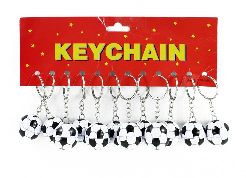 Fußball Metall an Schlüsselanhänger  ca 2,5 cm