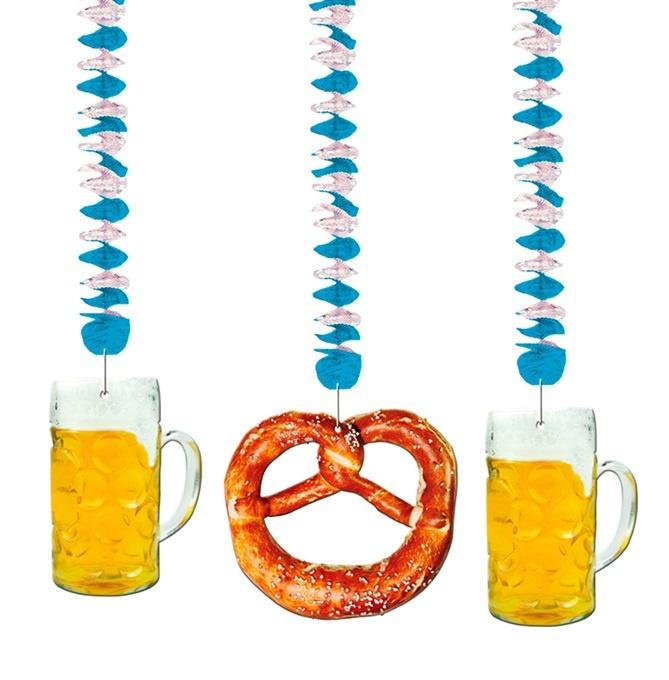 Spirale Deko Oktoberfest 2-fach sortiert - ca 75cm