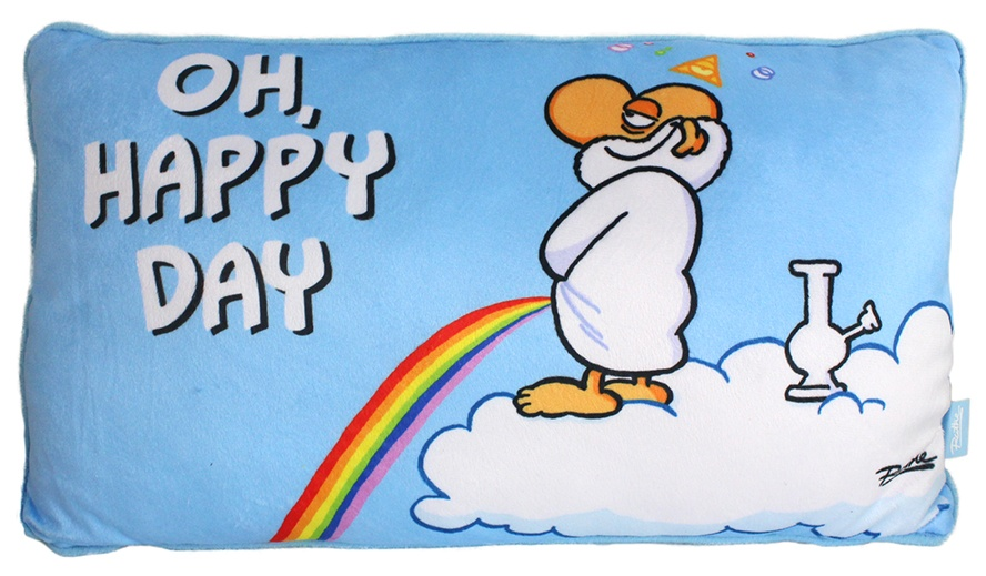 Ralph Ruthe Kissen Oh Happy Day ca 24x40 cm