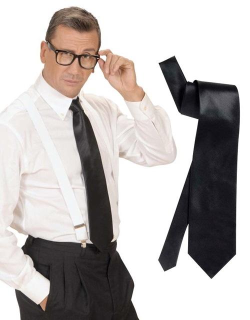 Krawatte schwarz aus Satin
