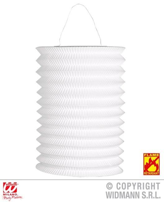 Laterne weiß Ø 16 cm - ca 28 cm hoch - flammenhemmend