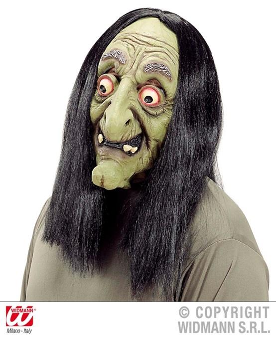 Maske - Hexe mit langen Haaren