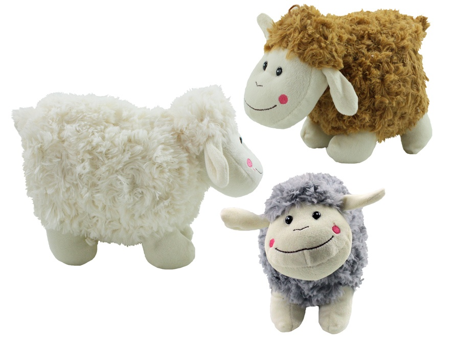 Schaf  mit lächelndem Gesicht 3 Farben sortiert ca 28 cm