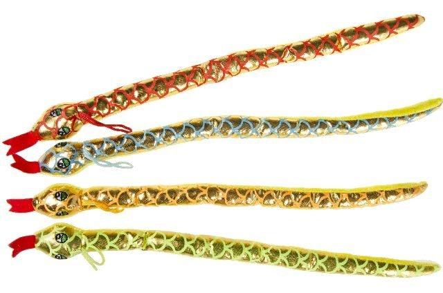 Schlange 4-fach sortiert metallicfarben ca 40 cm