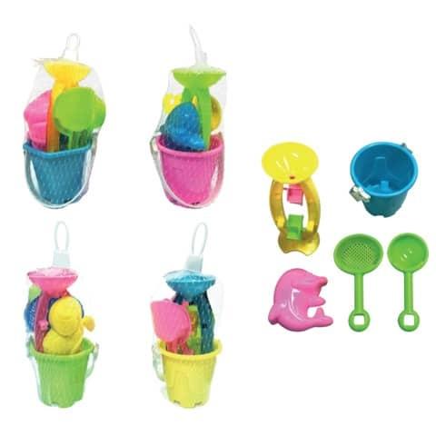 Bubble Island Sandspielzeug mini 5 teilig im Netz ca 16cm