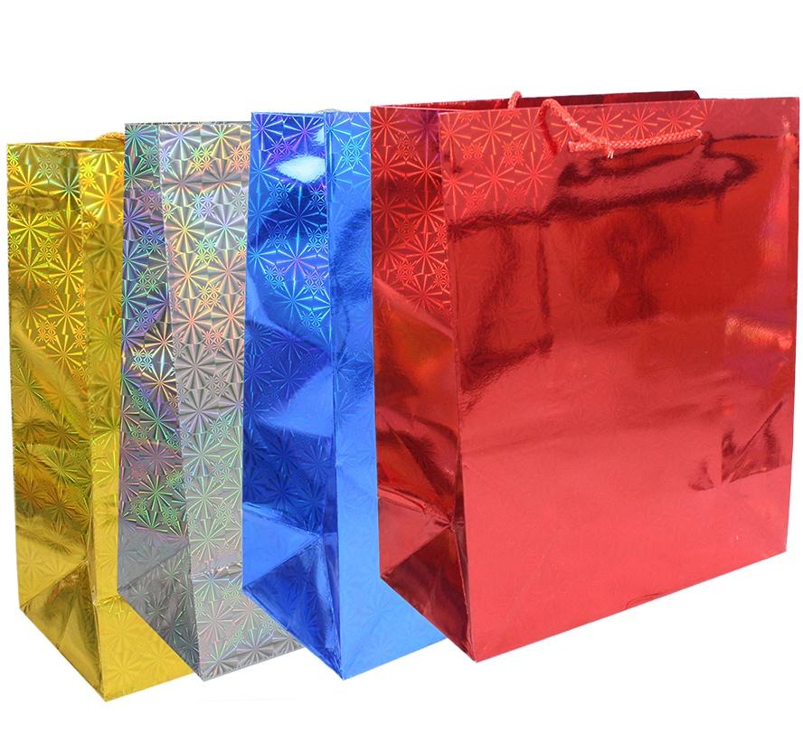 Glitzertragetasche Geschenktasche - 4 farbig sortiert