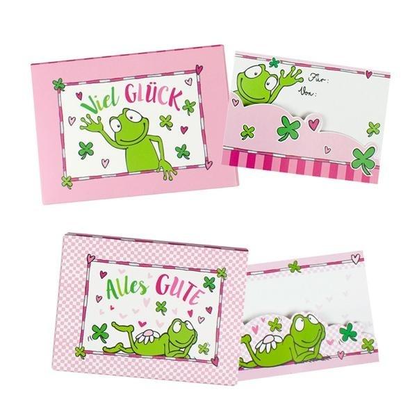 HALLO GLÜCK Geschenkkartenbox 2 fach sortiert