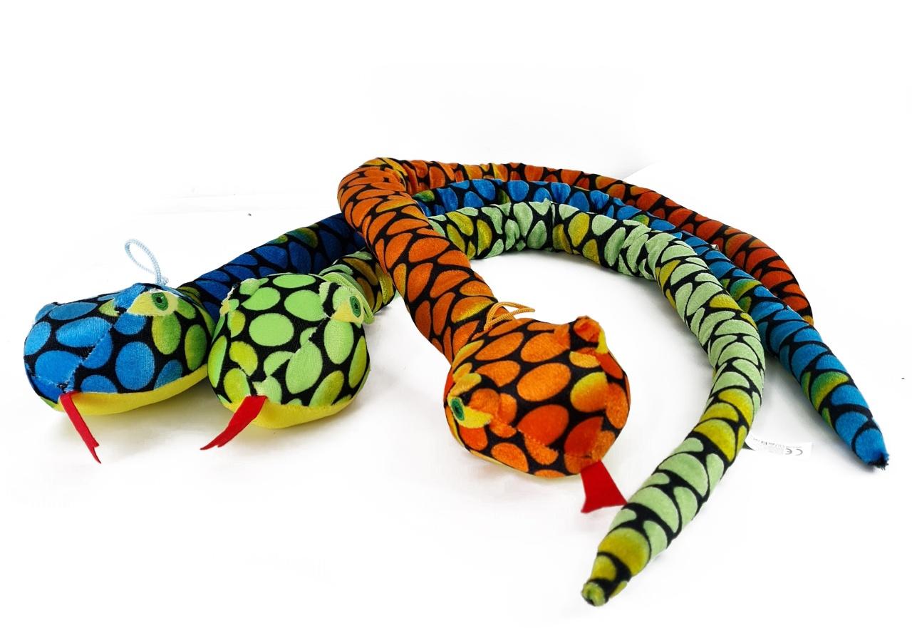Plüsch Schlange 6 farbig sortiert ca 100 cm