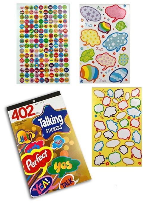 Stickerbuch 402 Sticker  - Buch ca 15x24cm