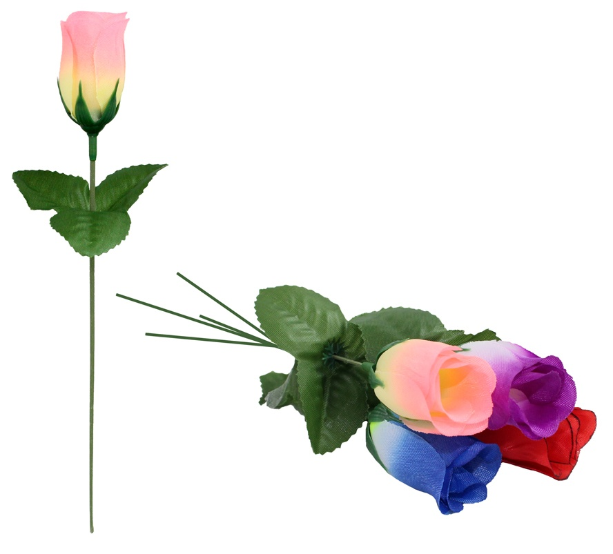 Rosenknospe farbig sortiert ca 22 cm